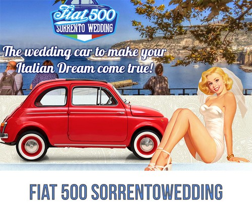 Auto per Matrimoni - fiat500Sorrento Wedding - sorrento
