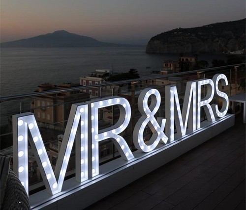 Scritte Luminose Led matrimonio sorrento