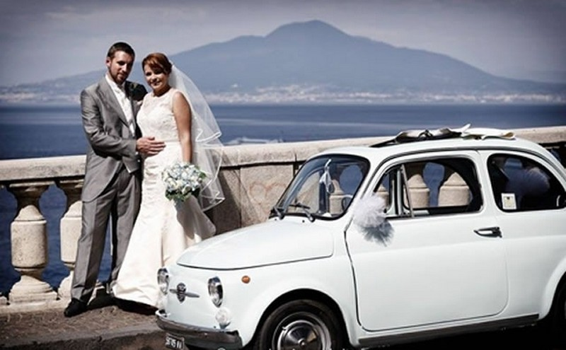 Matrimonio a Sorrento: - fiat500Sorrento Wedding